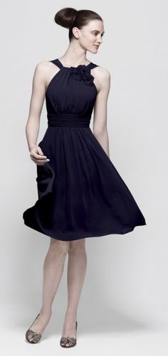 navy bridesmaid dress, but i would wear much cuter heels :-)