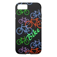 #Bright Bicycle Pattern iPhone 8/7 Case - #cycling #gifts