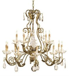 Soleil Chandelier design by Currey & Company