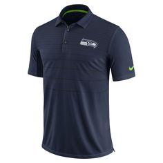 Nike Early Season (NFL Seahawks) Men's Polo Shirt Size Medium (Blue) - Clearance Sale