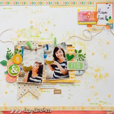 scrapbooking layout-need to use my little clothespins!!