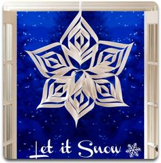 Love this 3-D Snowflake Decor :) #snow