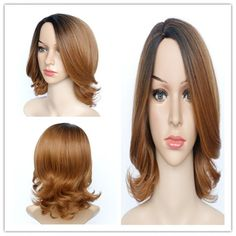 Graceful Women's Medium Fluffy Mixed Color Wavy Side Parting Synthetic Hair Wig #>=#>=#>=#>=#> Click on the pin to check out discount price, color, size, shipping, etc. Save and like it!