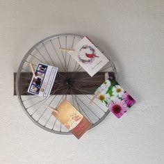 1 Wheel Upcycled Bike Wheel Decoration by LandfillDzine on Etsy, $38.00