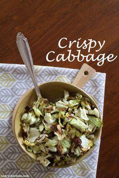 Crispy Cabbage - a deliciously easy side dish #vegan #sides #sidedish