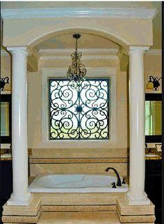 Wrought iron window | iron window treatement | Window Valence