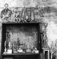 Giacometti's studio by Herbert Matter