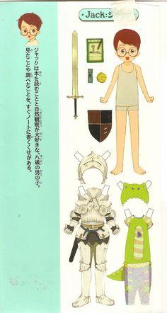 Japanese Magic Tree House Paper Dolls <> JACK 2 of 6