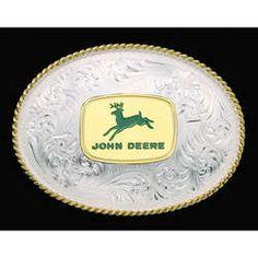 John Deere Silversmiths Belt Buckle