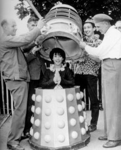 Carole Anne Ford inside a Dalek