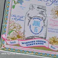 Wildflower and Mason Jar Wedding Invitation... So CUTE!
