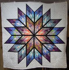 Prismatic Star ~ Quiltworx.com, made by CI Nancy Kloster