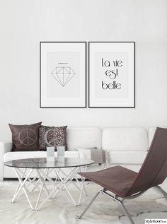 tavlor i vardagsrum,diamant poster,diamant tavla,posters med text,vardagsrum