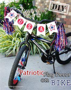 DIY Patriotic Flag Decor On Bike – Top Unique & Easy July 4th Holiday Design Project - DIY Craft (2)