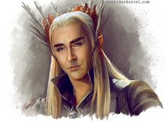 luckystaralways:  the hobbit: Thranduil by MathiaArkoniel