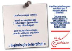 Higienização de Hortifruti!