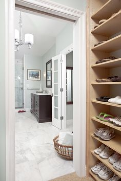 Great flooring for a bathroom. Looks so crisp and clean!