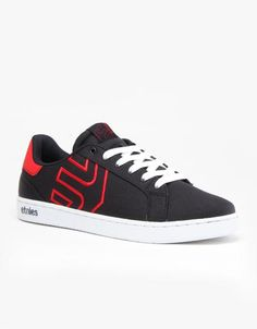 Etnies Fader LS Skate Shoes - Navy/Red/White #skateshoes #offduty #