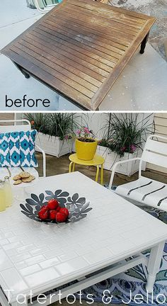 Use leftover tiles to create a DIY coffee table This decorative