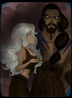 Daenerys Targaryen and Khal Drogo.