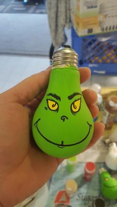 The Grinch light bulb Christmas ornament
