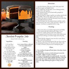Chocolate pumpkin cake!
