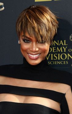 Tyra Banks at the 42nd Annual Daytime Emmy Awards, held at Warner Bros Studios in Burbank, California