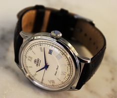 """DAPPERED: Win It - The Orient Cream Dial/Blue Hands Bambino """"Vintage"""""""