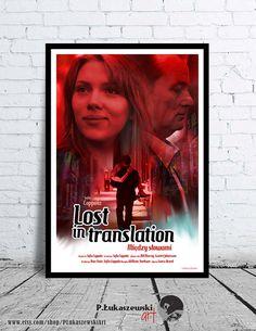 LOST IN TRANSLATION - alternative movie poster print paint draw art artwork minimalist Bill Murray Scarlett Johansson Sofia Coppola portrait