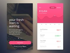 Created a concept for a banking app. It would essentially work like every other…