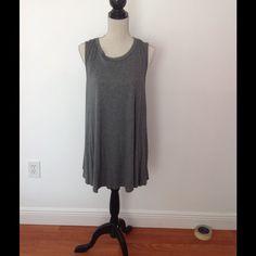 Dark grey t shirt dress sleeveless Brand new, never been worn Dresses Mini