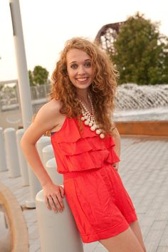 Coral Cotton Romper. Available at biminibutterfly.com