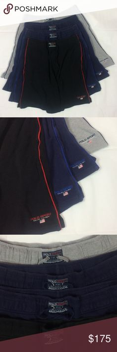 Vintage Lot Polo Sport Shorts Ralph Laurent Size L Vintage Lot For (4)* Polo Sport Shorts  Ralph Laurent  Size Large  Pre Owned In Great Conditions The Grey Shorts Have Small Stains On One Part Hard To See But No Rips Or Holes & Clean!  See images for more details!!  If you have any questions don't hesitate to ask!! Polo by Ralph Lauren Shorts Hybrids