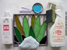 How to patina and polish stained glass.