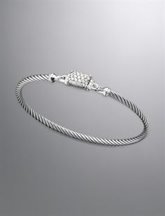 Petite Wheaton Bracelet, Pave Diamonds | Women Bracelets | David Yurman Official Store