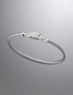 Petite Wheaton Bracelet, Pave Diamonds | Women Bracelets | David Yurman Official Store