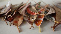 paradis express: Feuilles peintes, Painted leaves