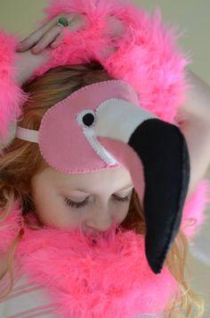 Pink Flamingo Halloween mask. Child size. by Beckatheshizknitter on Etsy https://www.etsy.com/listing/249857686/pink-flamingo-halloween-mask-child-size