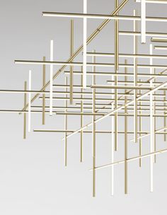 Salone del Mobile Milano discover the Flos' stories: our way of seeing and telling things. Linear Lighting, Lighting System, Modern Lighting, Lighting Design, Chandeliers, Chandelier Lighting, Ceiling Lamp, Ceiling Lights, Modern Restaurant