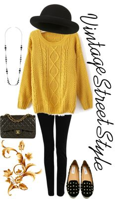 """""""Vintage Street Style"""" by lexieloubritt on Polyvore"""