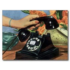 Shop Vintage Business, Antique Phone with Rotary Dial Postcard created by YesterdayCafe. Telephone Song, Telephone Vintage, Vintage Phones, Antique Phone, Old Phone, Collage, Phone Photography, The Good Old Days, Fotografia