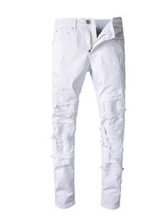 Mens Casual Jeans, Ripped Jeans Men, Men's Jeans, White Pants Men, White Jeans, Cargo Jeans Pant, Compression Clothing, Colored Jeans, New Outfits