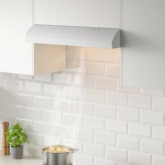 IKEA - LAGAN, Under cabinet range hood, white, The included LED bulb provides energy saving. Control panel placed at front for easy access and use. Motor power: Voltage: Built-in range hood with 2 different speeds. Stainless Range Hood, Stainless Steel, Ikea, Extractor Hood, Kitchen Hoods, Lumiere Led, Extra Storage Space, Under Cabinet, Range Hoods