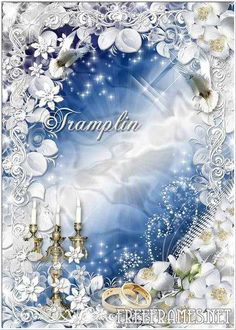 Free Wedding frame for photo Wedding Frames, Wedding Cards, Page Borders, Wedding Background, Winter Beauty, Templates Printable Free, Free Wedding, Bird Houses, Photoshop