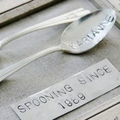 """Spooning since 1989- brilliant! Really fun idea for a newlywed gift!"