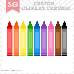 cheerful crayons clipart freebie follow for free too neat rh pinterest com crayon clip art free black and white crayola clip art crayons