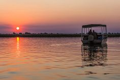 Sundowner drinks allow a few moments to enjoy the stunning colours of an African sunset