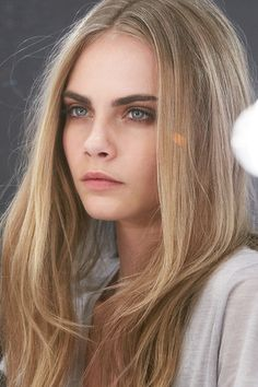 soft neutral makeup on Cara Delevingne #beauty #hair