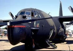 Lockheed MC-130E Hercules equipped with Fulton Recovery System