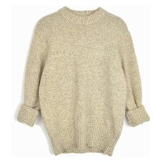 Vintage Marled Wool Sweater in Barley Tan by Woolrich Tan Sweater... ($48) ❤ liked on Polyvore featuring tops, sweaters, brown top, tan sweater, marled sweater, tan top and woolrich